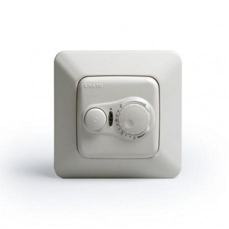 Терморегулятор с датчиком пола и воздуха, 10А, белый, Ensto