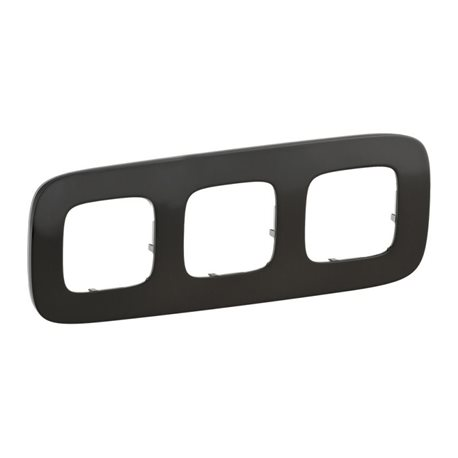 Рамка 3-я цвет черная сталь, Valena Allure 755513
