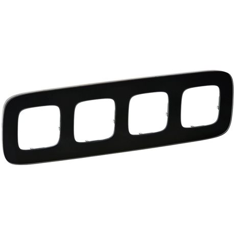 Рамка 4-я цвет черная сталь, Valena Allure 755514