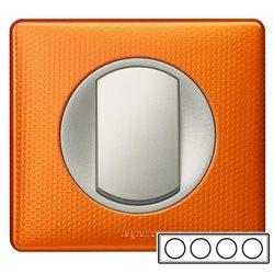 Рамка 4-ная Оранжевый металлик, Celiane
