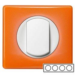 Рамка 4-ная Оранжевый муар, Celiane