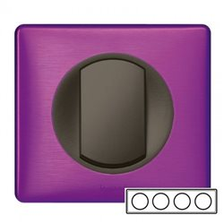 Рамка 4-ная Пурпур металлик, Celiane