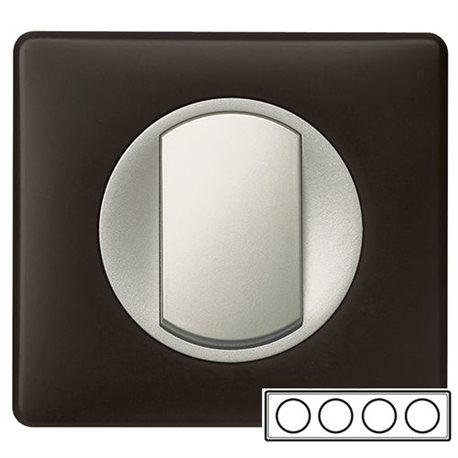 Рамка 4-ная Черный перкаль, Celiane 66744