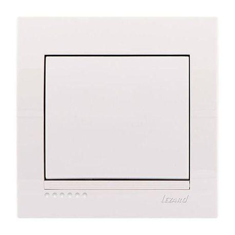 Выключатель 1-клавишный цвет белый, Lezard Deriy 702-0202-100