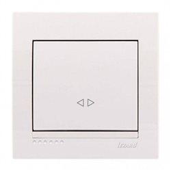 Выключатель промежуточный 1-клавишный цвет белый, Lezard Deriy 702-0202-107