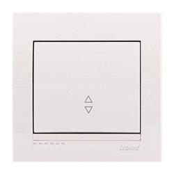 Выключатель проходной 1-клавишный цвет белый, Lezard Deriy 702-0202-105