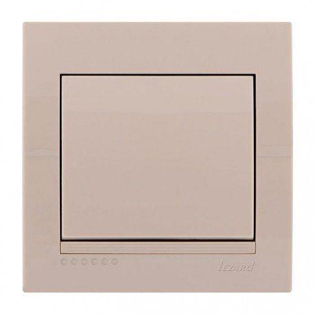 Выключатель 1-клавишный цвет кремовый, Lezard Deriy 702-0303-100