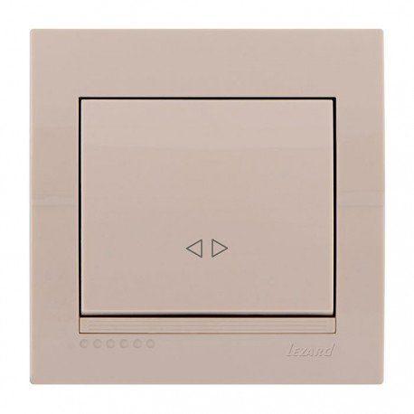 Выключатель промежуточный 1-клавишный цвет кремовый, Lezard Deriy 702-0303-107