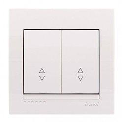 Выключатель проходной 2-клавишный цвет кремовый, Lezard Deriy 702-0303-106