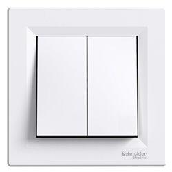 Выключатель 2-кл., цвет белый, Asfora