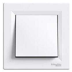 Переключатель промежуточный 1-кл., цвет белый, Asfora