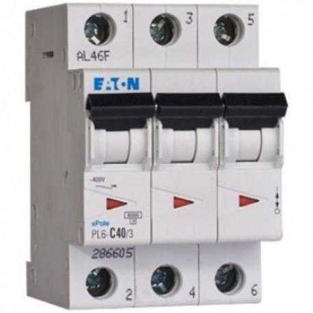 Автоматичний вимикач Eaton-Moeller PL-4 C-50/3 3p 4,5 кА