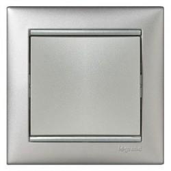 Механизм выключателя 1-клавишного, Valena Legrand алюминий 770101