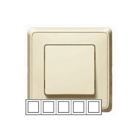 Рамка 5-ная горизонтальная/вертикальная , цвет слоновая кость, Legrand Cariva 773755