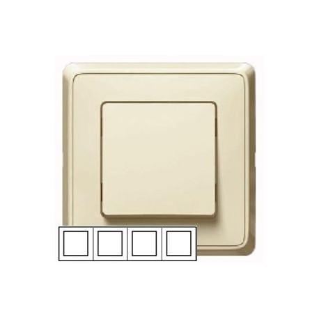 Рамка 4-ная горизонтальная/вертикальная, цвет слоновая кость, Legrand Cariva 773754