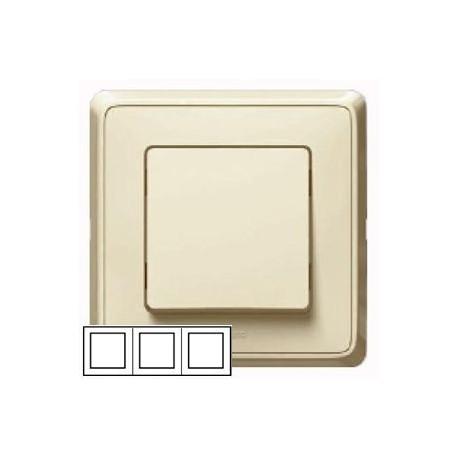 Рамка 3-ная горизонтальная/вертикальная, цвет слоновая кость, Legrand Cariva 773753
