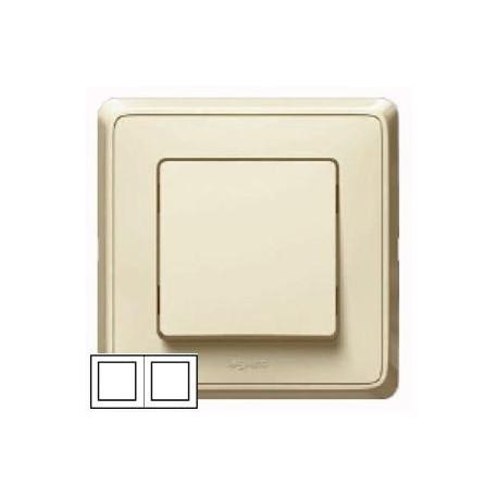 Рамка 2-ная горизонтальная/вертикальная, цвет слоновая кость, Legrand Cariva 773752