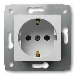 Механизм розетки 2К+З, со шторками, цвет белый, Legrand Cariva 773621