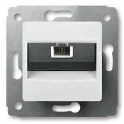 Механизм розетки RJ11 белый Cariva