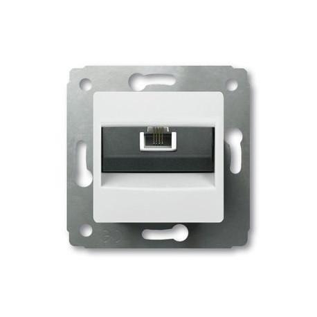 Механизм розетки телефонной RJ11, цвет белый, Legrand Cariva 773638