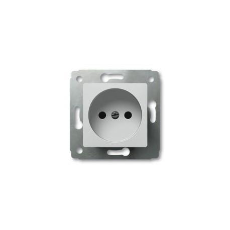 Механизм розетки 2К, без заземления, цвет белый, Legrand Cariva 773616