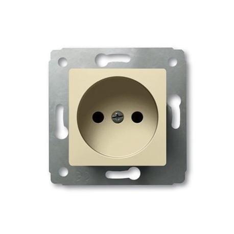 Механизм розетки 2К, без заземления, цвет слоновая кость, Legrand Cariva 773716