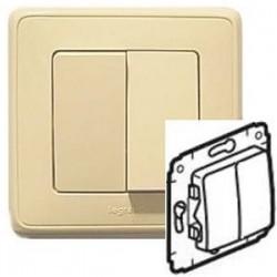 Механизм переключателя 2-кл., цвет слоновая кость, Legrand Cariva 773708