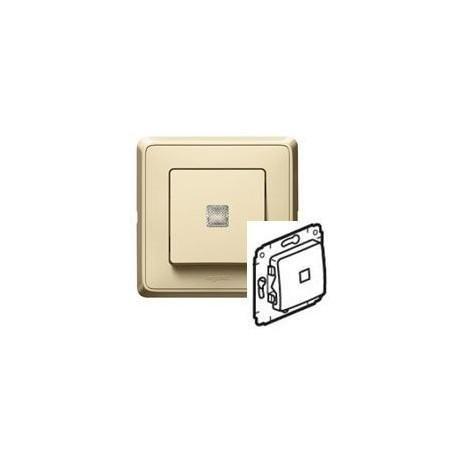 Механизм переключателя 1-кл. с подсветкой,, цвет слоновая кость, Legrand Cariva 773726