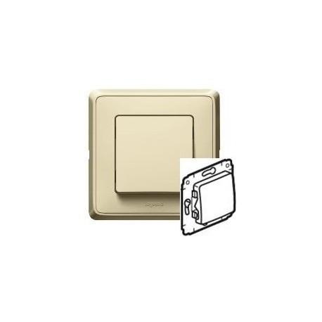 Механизм кнопки 1-кл., слоновая кость Cariva