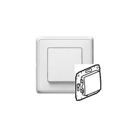 Механизм кнопки 1-кл. белый Cariva
