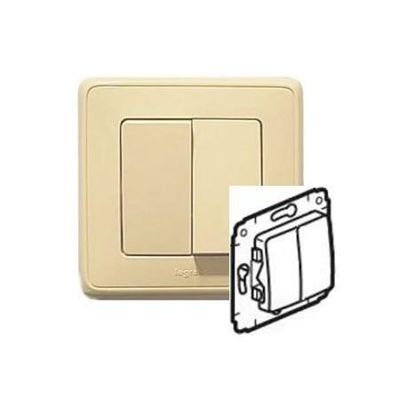 Механизм выключателя 2-кл., цвет слоновая кость, Legrand Cariva 773705