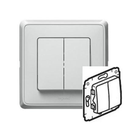 Механизм выключателя 2-кл., цвет белый, Legrand Cariva 773605