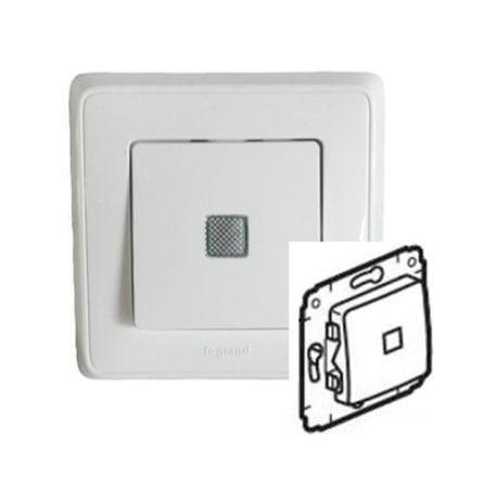 Механизм выключателя 1-кл. с подсветкой, цвет белый, Legrand Cariva 773610