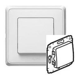 Механизм выключателя 1-кл. 10А, белый Cariva