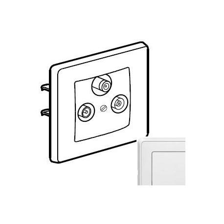 Механизм розетки ТВ-Спутник проходной 2150МГц , цвет белый, Legrand Cariva 773636