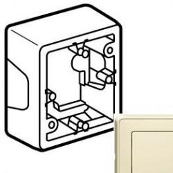 Коробка 1-ная для монтажа, слоновая кость Cariva