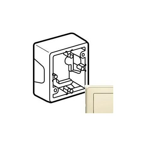 Коробка 1-на для монтажу, колір слонова кістка, Legrand Cariva