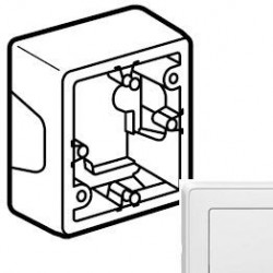 Коробка 1-ная для монтажа, белая, Cariva