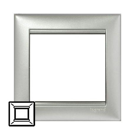 Рамка Legrand 1 пост алюминий Valena 770151