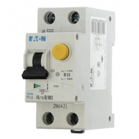 Дифференциальный автомат Eaton PFL-6-25A/1N/C/003 2р 25А 30мА
