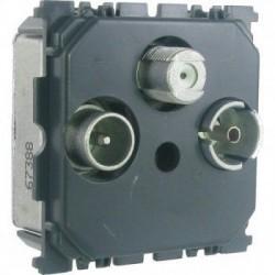 Механизм розетки TV/R/SAT 2 кабеля, Celiane 67389
