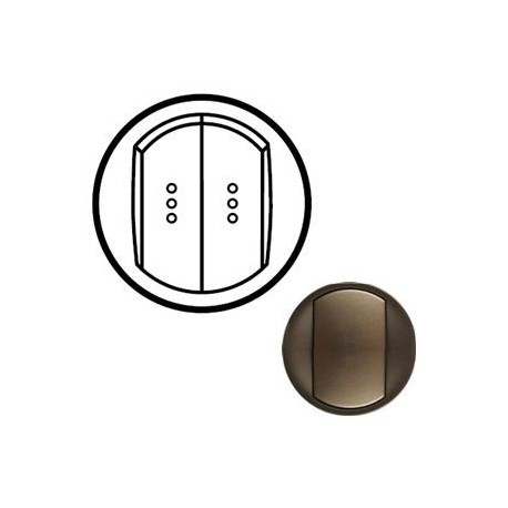 Лицевая панель механизма выключателя 2-кл. с подсветкой, цвет графит, Ce 64911