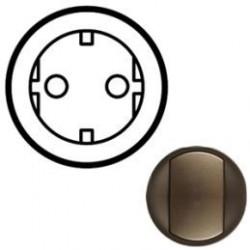 Лицевая панель механизма розетки 2К+З, цвет графит, Celiane 64952