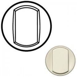 Лицьова панель вимикача 1-кл., Колір слонова кістка, Сeliane, Legrand