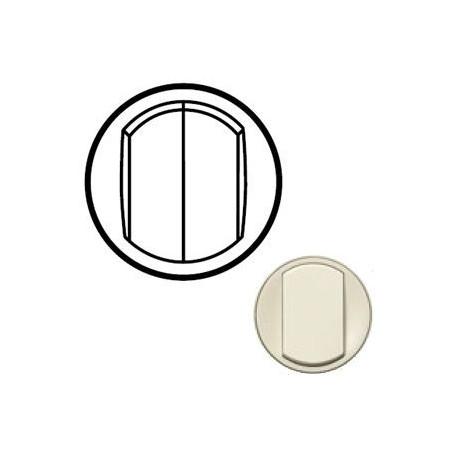 Лицьова панель вимикача 2-кл. Колір слонова кістка, Celiane, Legrand
