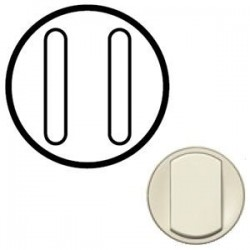 Лицевая панель механизма выключателя 2-кл. бесшумного, цвет слоновая кость Celiane 66207