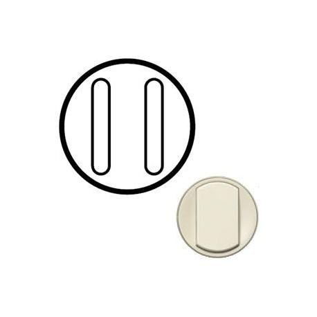 Лицьова панель вимикача 2-кл. безшумного, колір слонова кістка Celiane, Legrand