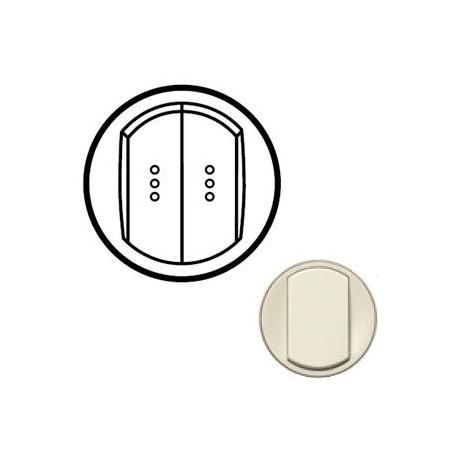 Лицьова панель вимикача 2-кл. з підсвічуванням, колір слонова кістка, Celiane, Legrand
