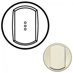 Лицевая панель механизма выключателя 1-кл. с подсветкой, цвет белый, Celiane 68003