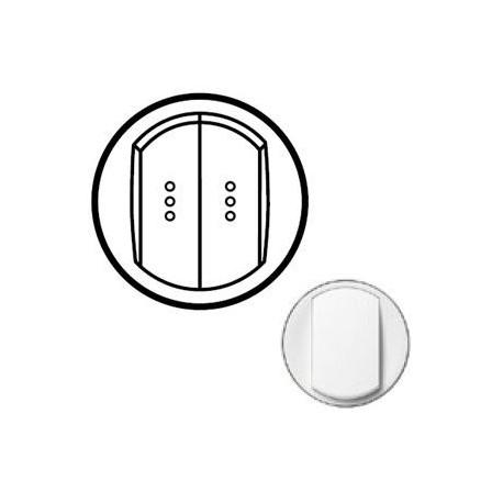 Лицьова панель вимикача 2-кл. з підсвічуванням, колір білий, Celiane, Legrand